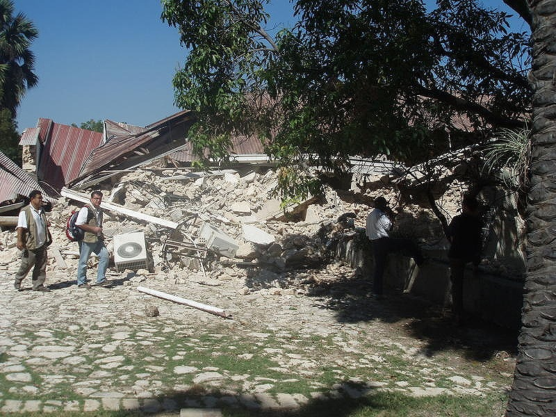 HFH-Haiti office collapsed by the quake.jpg
